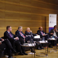 """Katrin Böttger at the panel on """"Russia-European Union relations"""""""