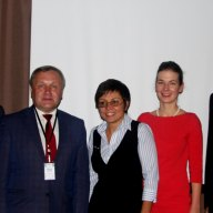 Andriy Kulakov, Hennadiy Maksak, Mykola Swjerjew, Nataliia Hnydyuk, Anne Bercio, Wolfang Bindseil, Dr. Mathias Jopp (f.l.t.r.)