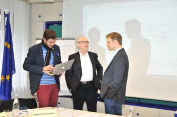Sebastian Zeitzmann, Marco Wölfinger and Hans Beitz