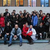 Gruppenfoto der Teilnehmer des Workshops beim Besuch des Auswärtigen Amtes.