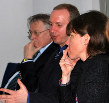 v.l.n.r. Prof. Dr. Mathias Jopp, Dr. Stanislav Secrieru, Dr. Susan Stewart