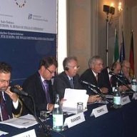 Sektion II: v.l.n.r.: U. Ranieri; P. Tempel; M. Monti; J. Chrobog; M. Schulz; R. Ruggiero.