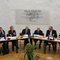 Francesco Passarelli, Elfriede Regelsberger, Gregor Vogt-Spira, Umberto Vattani, Alfredo Mantica, Guido Cerboni (v.l.n.r.).