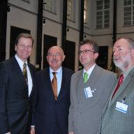 V.l.n.r.: Dr. Guido WESTERWELLE; Dr. János MARTONYI; Jens ACKERMANN MdB; Markus MECKEL