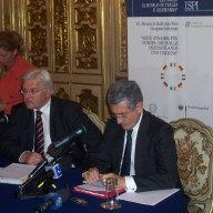 Außenminister Steinmeier und sein italienischer Amtskollege D'Alema.