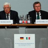 Boris Biancheri, Präsident, ISPI; Rainder Steenblock, Europapolitischer Sprecher, Bündnis 90/Die Grünen