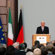 Frank-Walter Steinmeier, Bundesminister des Auswärtigen bei seiner Rede zum Generalthema des Forums