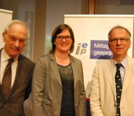 Wolfgang Wessels, Katrin Böttger und Heribert Hirte (v.l.n.r.)