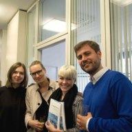 Ljudmyla Melnyk, Caroline Marx, Magdalena Patalong und Richard Steinberg