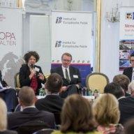 Imre L. Molnár, Martina Eckardt, Laszlo Csernai und Robert Stüwe