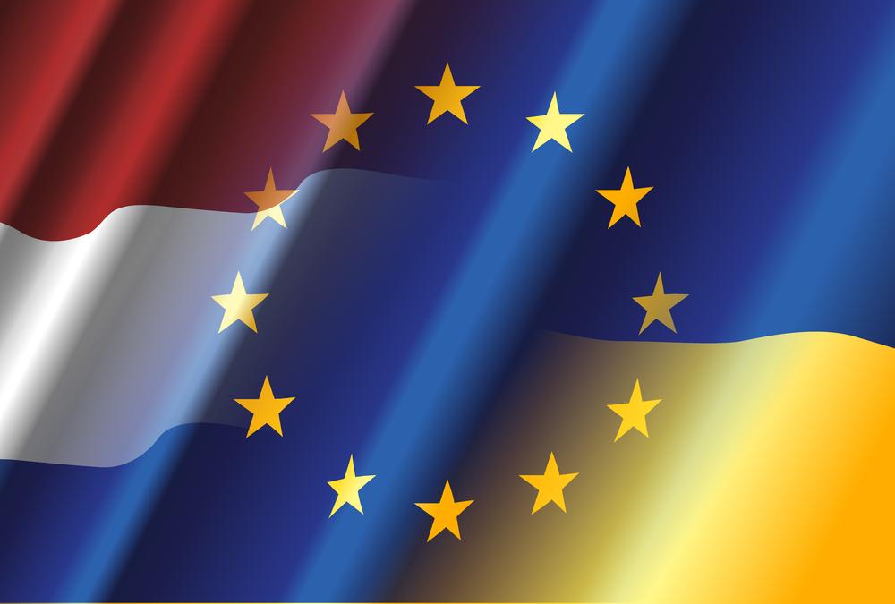 """""""Ukraine & Netherlands & European Union"""" von Yuriy Vlasenko/Shutterstock.com"""